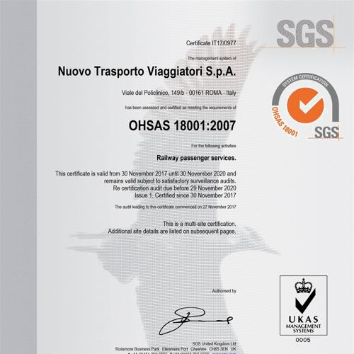 Certification OHSAS 18001:2007